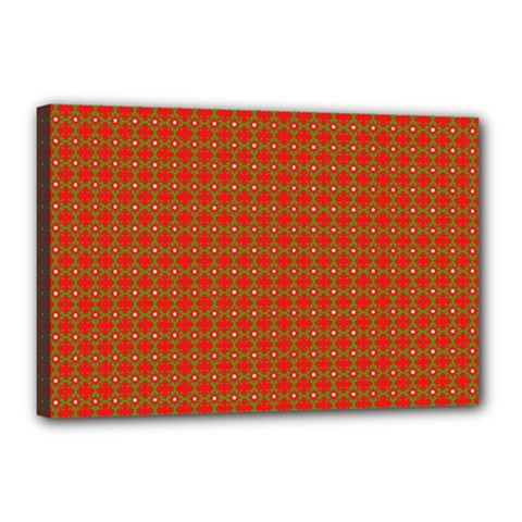 Christmas Paper Wrapping Paper Pattern Canvas 18  x 12