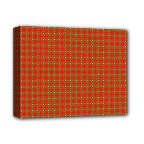 Christmas Paper Wrapping Paper Pattern Deluxe Canvas 14  X 11