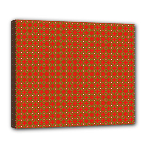 Christmas Paper Wrapping Paper Pattern Deluxe Canvas 24  x 20