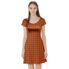 Christmas Paper Wrapping Paper Pattern Short Sleeve Skater Dress