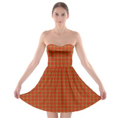Christmas Paper Wrapping Paper Pattern Strapless Bra Top Dress