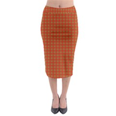 Christmas Paper Wrapping Paper Pattern Midi Pencil Skirt