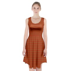 Christmas Paper Wrapping Paper Pattern Racerback Midi Dress