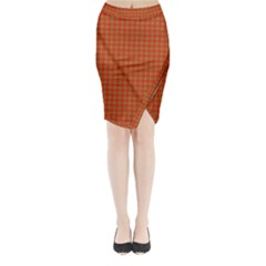Christmas Paper Wrapping Paper Pattern Midi Wrap Pencil Skirt