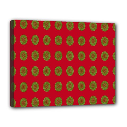 Christmas Paper Wrapping Paper Canvas 14  x 11