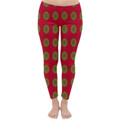 Christmas Paper Wrapping Paper Classic Winter Leggings