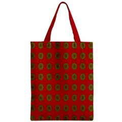 Christmas Paper Wrapping Paper Zipper Classic Tote Bag