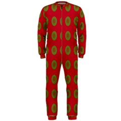 Christmas Paper Wrapping Paper OnePiece Jumpsuit (Men)