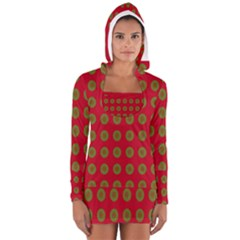 Christmas Paper Wrapping Paper Women s Long Sleeve Hooded T-shirt