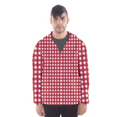 Christmas Paper Wrapping Paper Hooded Wind Breaker (men)