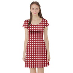 Christmas Paper Wrapping Paper Short Sleeve Skater Dress