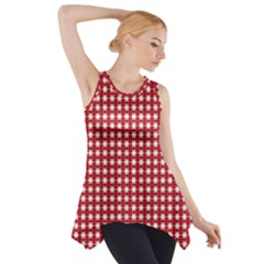 Christmas Paper Wrapping Paper Side Drop Tank Tunic