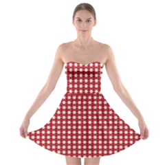 Christmas Paper Wrapping Paper Strapless Bra Top Dress