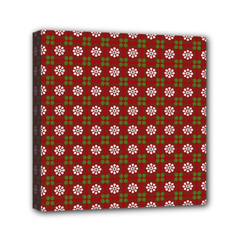 Christmas Paper Wrapping Pattern Mini Canvas 6  X 6