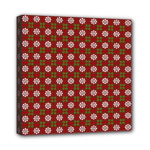 Christmas Paper Wrapping Pattern Mini Canvas 8  x 8