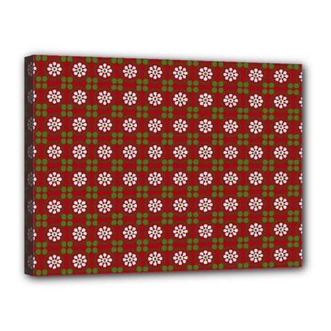 Christmas Paper Wrapping Pattern Canvas 16  x 12
