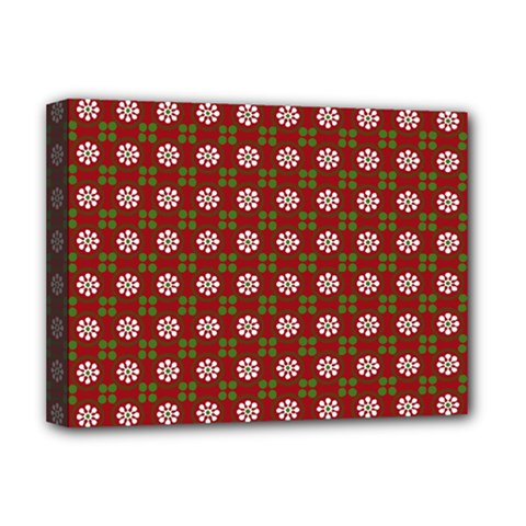 Christmas Paper Wrapping Pattern Deluxe Canvas 16  X 12