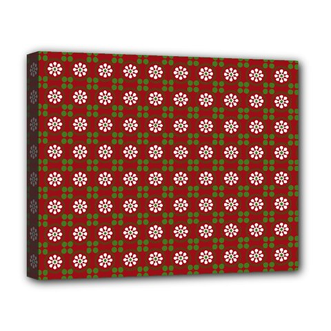 Christmas Paper Wrapping Pattern Deluxe Canvas 20  x 16