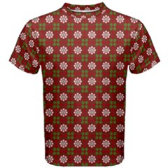 Christmas Paper Wrapping Pattern Men s Cotton Tee