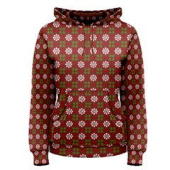 Christmas Paper Wrapping Pattern Women s Pullover Hoodie