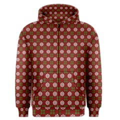 Christmas Paper Wrapping Pattern Men s Zipper Hoodie