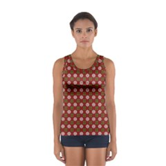 Christmas Paper Wrapping Pattern Women s Sport Tank Top