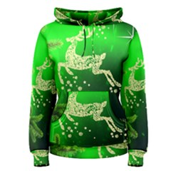 Christmas Reindeer Happy Decoration Women s Pullover Hoodie