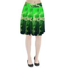 Christmas Reindeer Happy Decoration Pleated Skirt
