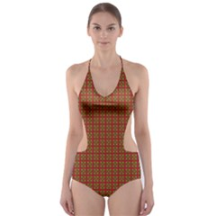 Christmas Paper Wrapping Paper Cut Out One Piece Swimsuit