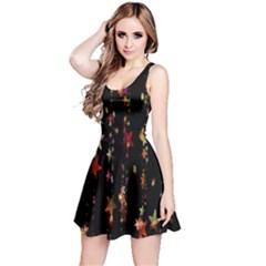 Christmas Star Advent Golden Reversible Sleeveless Dress