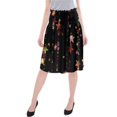 Christmas Star Advent Golden Midi Beach Skirt