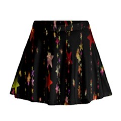 Christmas Star Advent Golden Mini Flare Skirt
