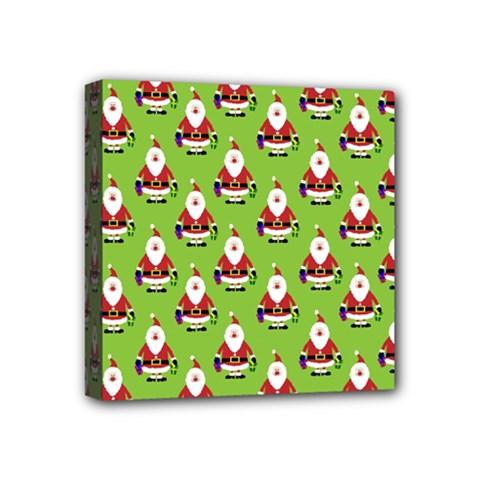Christmas Santa Santa Claus Mini Canvas 4  X 4