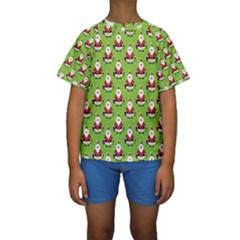 Christmas Santa Santa Claus Kids  Short Sleeve Swimwear