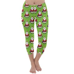 Christmas Santa Santa Claus Capri Winter Leggings