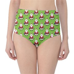 Christmas Santa Santa Claus High Waist Bikini Bottoms