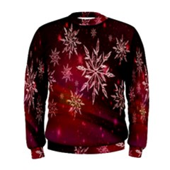 Christmas Snowflake Ice Crystal Men s Sweatshirt
