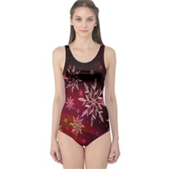 Christmas Snowflake Ice Crystal One Piece Swimsuit