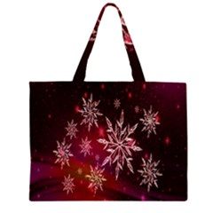 Christmas Snowflake Ice Crystal Large Tote Bag