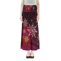 Christmas Snowflake Ice Crystal Maxi Skirts