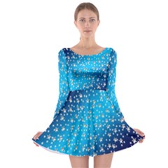 Christmas Star Light Advent Long Sleeve Skater Dress