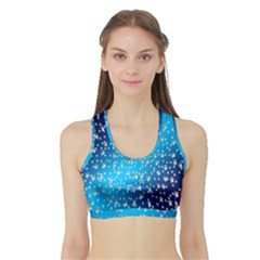 Christmas Star Light Advent Sports Bra with Border