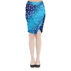 Christmas Star Light Advent Midi Wrap Pencil Skirt