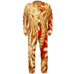 Christmas Straw Xmas Gold OnePiece Jumpsuit (Men)