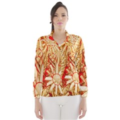 Christmas Straw Xmas Gold Wind Breaker (Women)