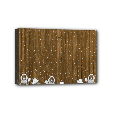Christmas Snowmen Rustic Snow Mini Canvas 6  x 4