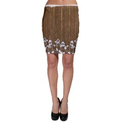 Christmas Snowmen Rustic Snow Bodycon Skirt
