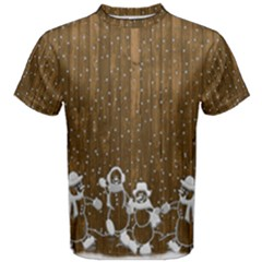 Christmas Snowmen Rustic Snow Men s Cotton Tee