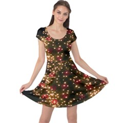 Christmas Tree Cap Sleeve Dresses