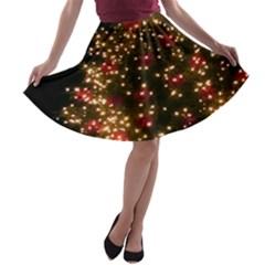 Christmas Tree A-line Skater Skirt